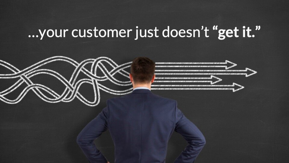 Your Customer Doesn't get it - a key marketing challenge.