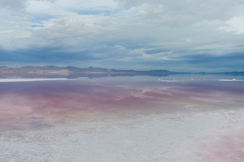 Visited the Great Salt Lake!! So beautiful, but so, so stinky.