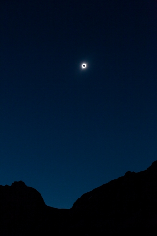 Watched the solar eclipse in the Wyoming backcountry in August.