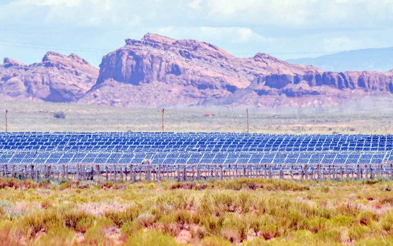 The Kayenta Solar Facility is the first solar facility on the Navajo Nation, and a sign of the future.   credit: Navajo Times