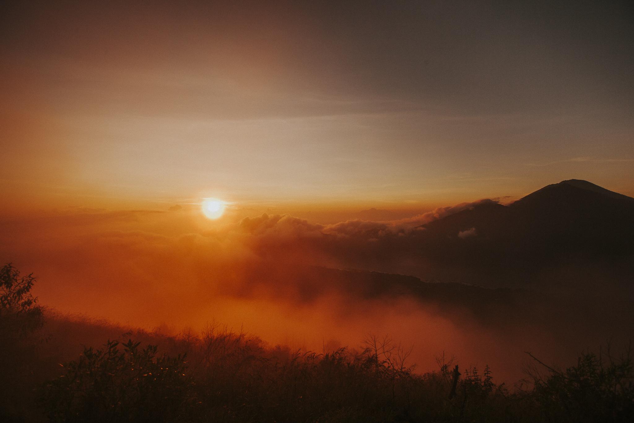 Sunrise Mount Batur Volcano
