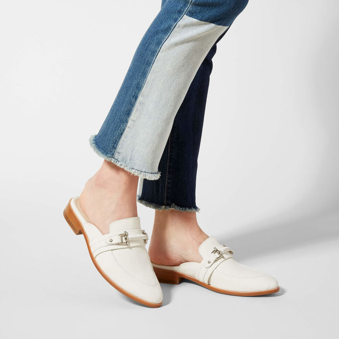 Jubilee - You all know my obsession with white shoes… so clearly I had to add this one to my collection! This nubuck mule is a masterpiece of a shoe! They are also extremely comfortable and I never want to take them off! This show feels and looks luxurious!