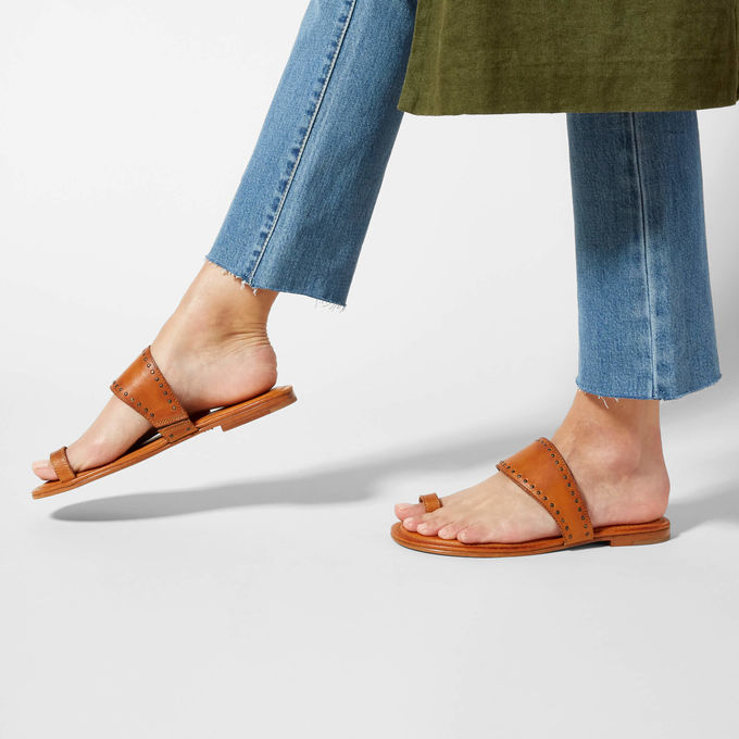 Gipsy - Lastly, we have this cognac sandal! This shoe is where boho meets cowgilr all in the for of a simple sandal! It is super comfy and lightweight! I have a feeling I will be wearing this shoe on the go al lot while we are in Italy!
