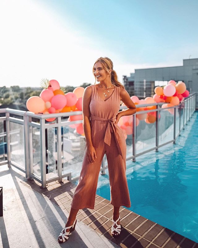 Sharing a few photos from last night's Rooftop Social at @9oncanal_ 🌴 Such a fun night to remember! Dressed in @lesleyjane you can use my code JOSIE20 for 20% in stores or online 💕