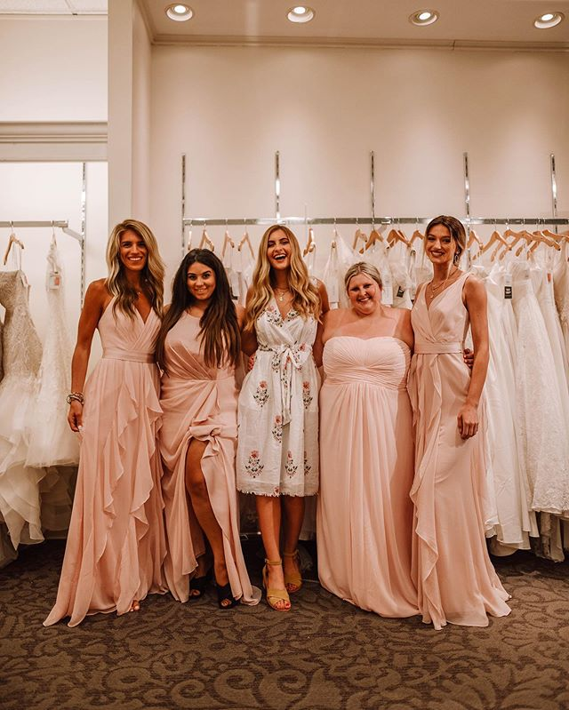 WE SAID YES TO THE BRIDESMAID DRESS!💕 Last week I got to spend a day with my girls on the hunt for the perfect bridesmaid dress at @davidsbridal ! I was super happy almost all of my bridesmaids could make it (@kahleanicolee we missed your sweet face!!) My mom also got to join us and we found her the perfect MOB dress to wear for the wedding too! Today on the blog I am sharing all about our experience and showing off some stunning dresses these girls tried on! Head to the post to see which dress style and color we actually chose for my big day! I have linked all the dresses we looked at on the LIKEtoKNOW.it app! Shopping via the app is a super easy and convenient way to shop all my David's Bridal favorites!  http://liketk.it/2CSIu #liketkit @liketoknow.it #LTKwedding