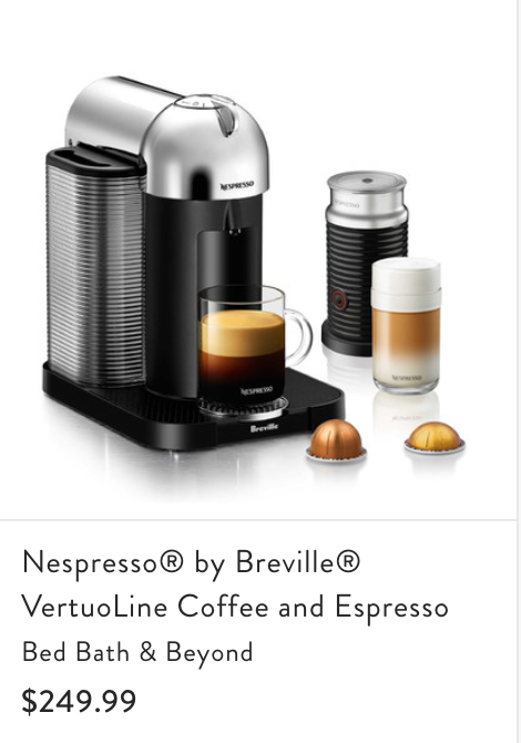 - Grant and I both are coffee lovers and for the longest time we have wanted a Nespresso machine! It is our favorite coffee ever and it would be so amazing to start our morning off every day with a cup of coffee! Adding this to our registry was such a clear choice!