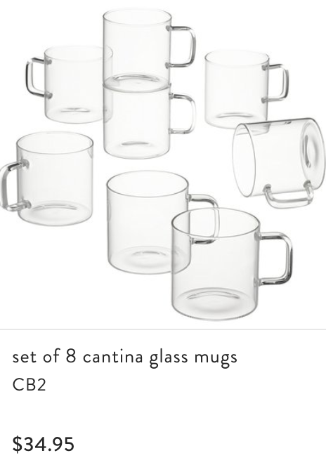 - I added several types of glassware to our registry but this one was my favorite! I thought it would pair super cute with the coffee machine.