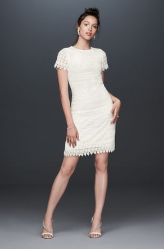 Illusion Short Sleeve Dress with Venice Lace Trim - This dress is so versatile and could fit for so many different occasions. Love the lace detailing. I think it would be perfect for a bridal shower or even rehearsal dinner!