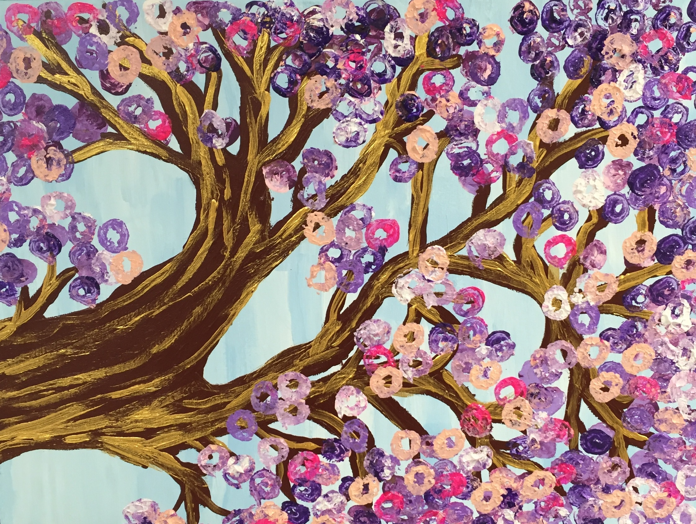 Spring Blossoms( Acrylic on Canvas)    By J. B.