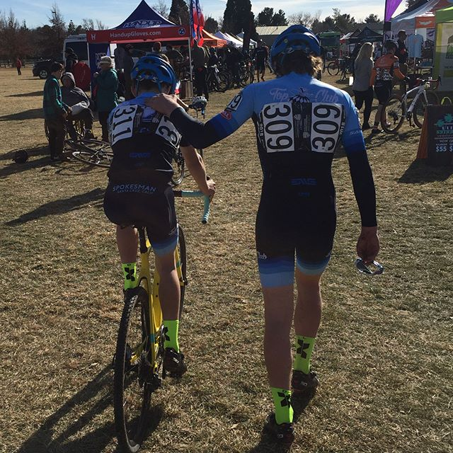 US Cyclocross National Championship JR 15-16 in the books.  @just_ryder_ and @thenaturalcx_1 did an amazing job and we couldn't be more proud.  Both made the lead group , but suffered crashes that dropped them back.  Ryder fought back to 9th and Nate into the top 20.