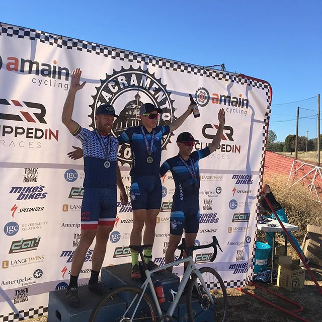 Great day of racing from the squad at @saccyclocross .  @nathan_mtb took the win, @capn._.morgan got 3rd, and @eatindirt1st placed 5th.