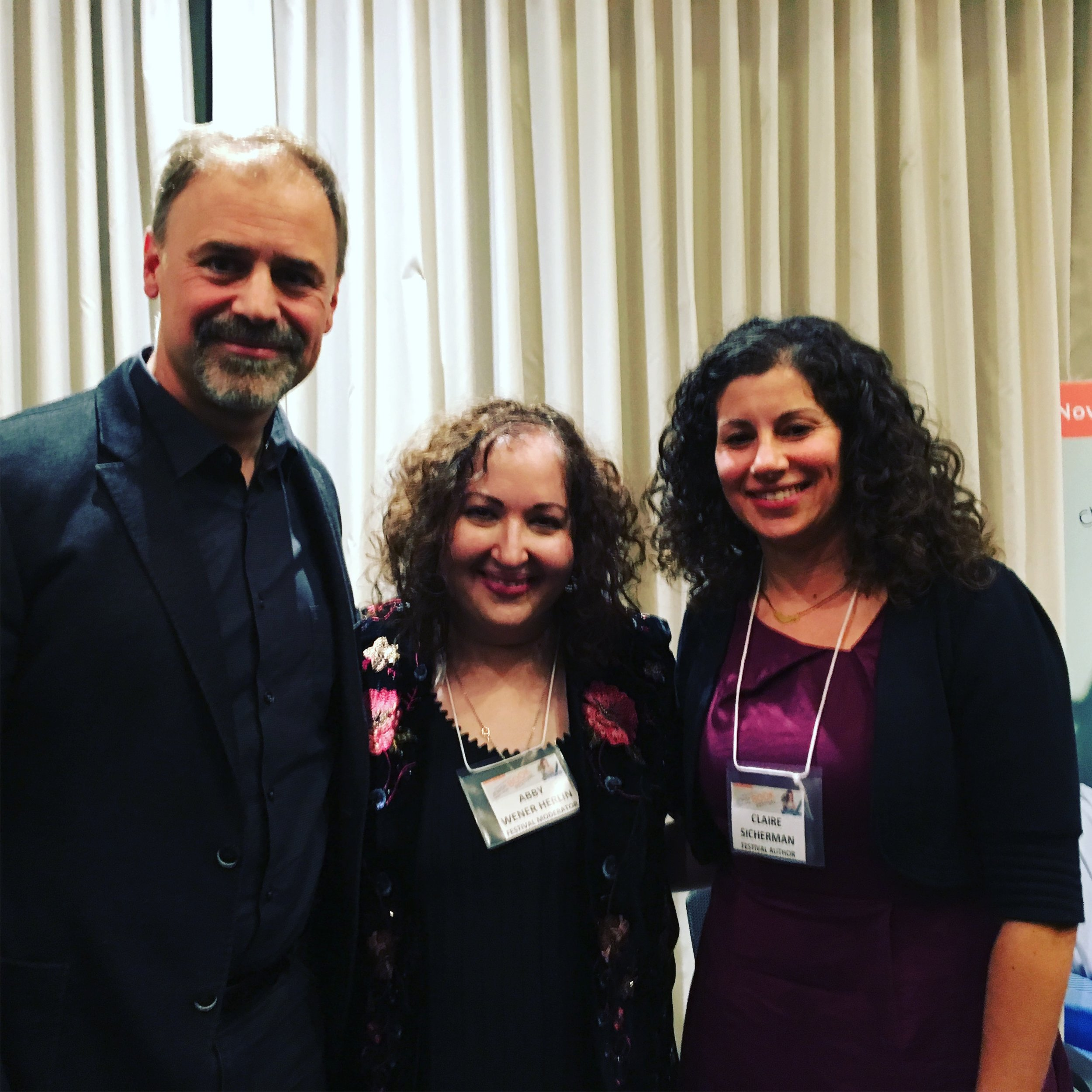 Cherie Smith JCC Jewish Book Festival 2017 - Panel on Intergenerational Trauma (from left to right): Dr. Roger Frie, Dr. Abby Wener Herlin, and Claire Sicherman.