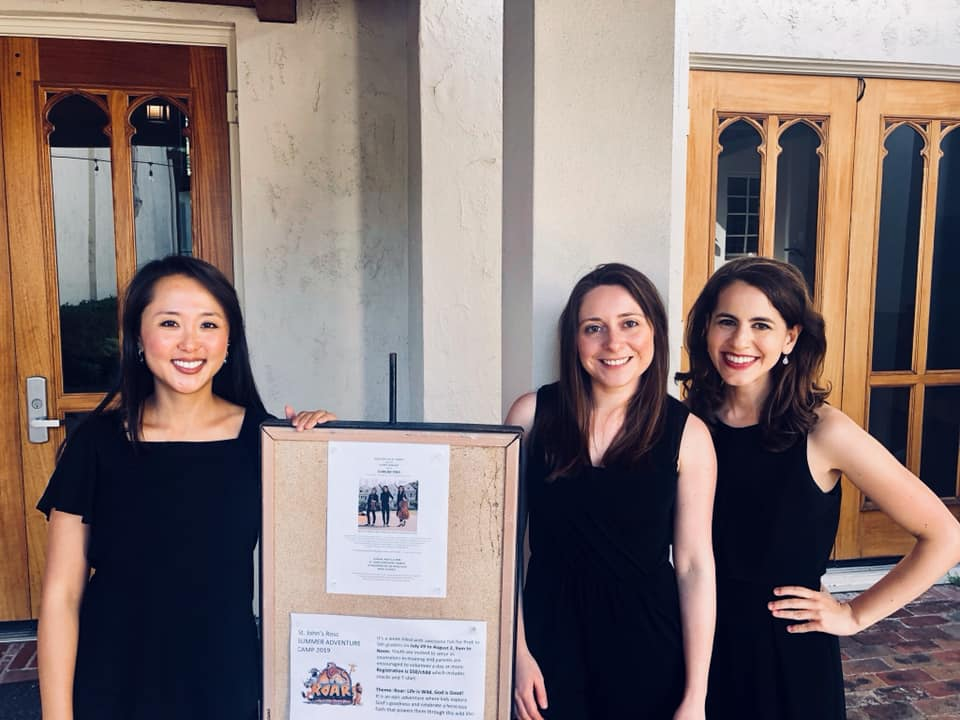 Posing after performing for Ross Arts at St. John's… a fun concert! Thank you David Montgomery for hosting us!  May 5, 2019
