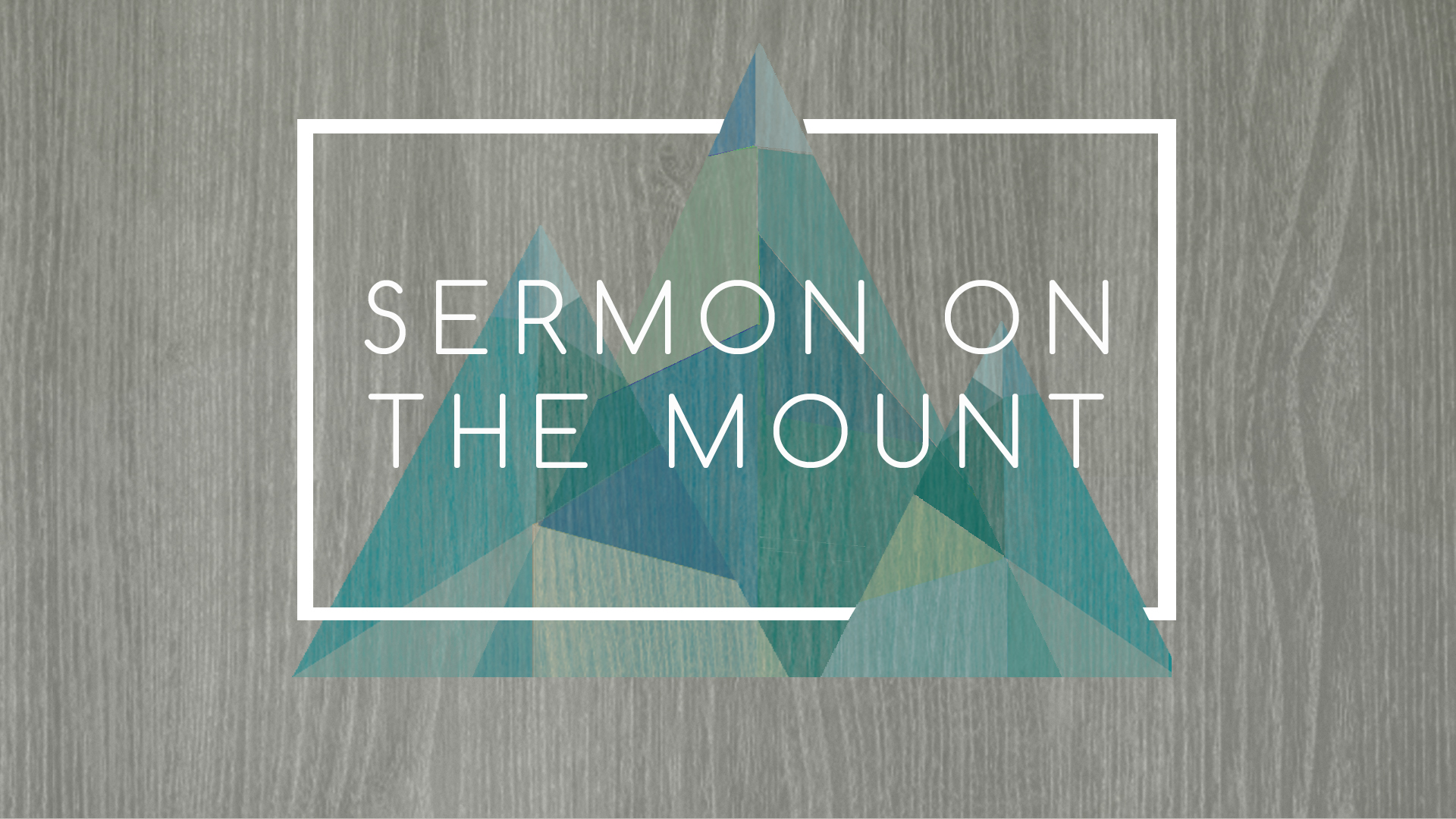 Listen to Sunday's sermon over Matthew 6:25-34 about how anxiety and worry are not from God.