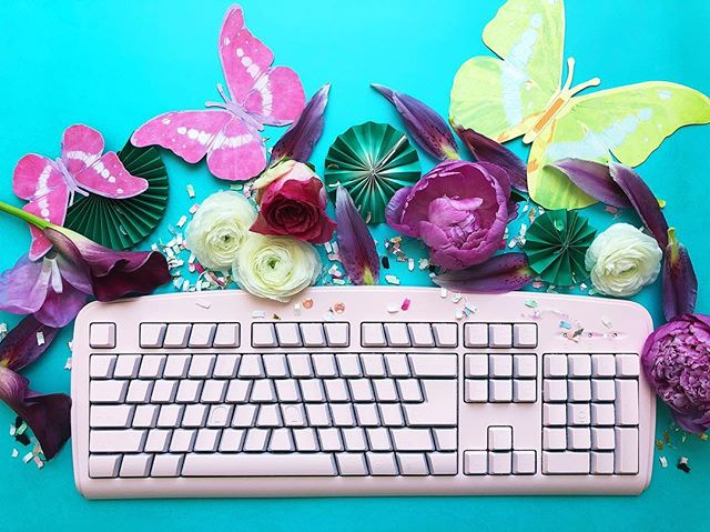 Spring into action! We had fun working on some new client pictures today. 🌸⌨️ #polisheddigital