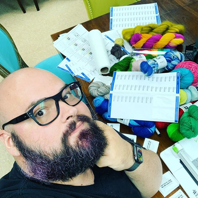 We are elbows deep in Stitches prep this week! We time our fall dye run to coincide with #stitchessocal so we can debut everything all at once during one awesome weekend! And somewhere in all this paper are the QR codes we'll be hiding in our booth as part of the #stitchesscavenger hunt! Stay tuned for more previews of what we'll have going! @stitchesevents #localyarnstore