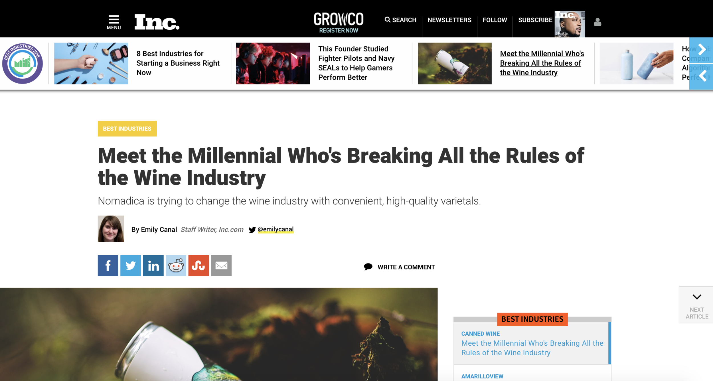 Inc Mag - Meet the Millenial - Screenshot - March 13 2018.png