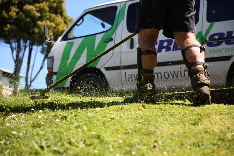 Kapiti lawn mowing crew