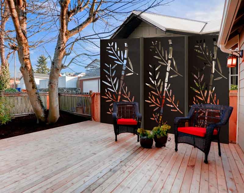 Garden Wall Solutions On A Budget, Tall Potted Plants Patio Privacy Nz