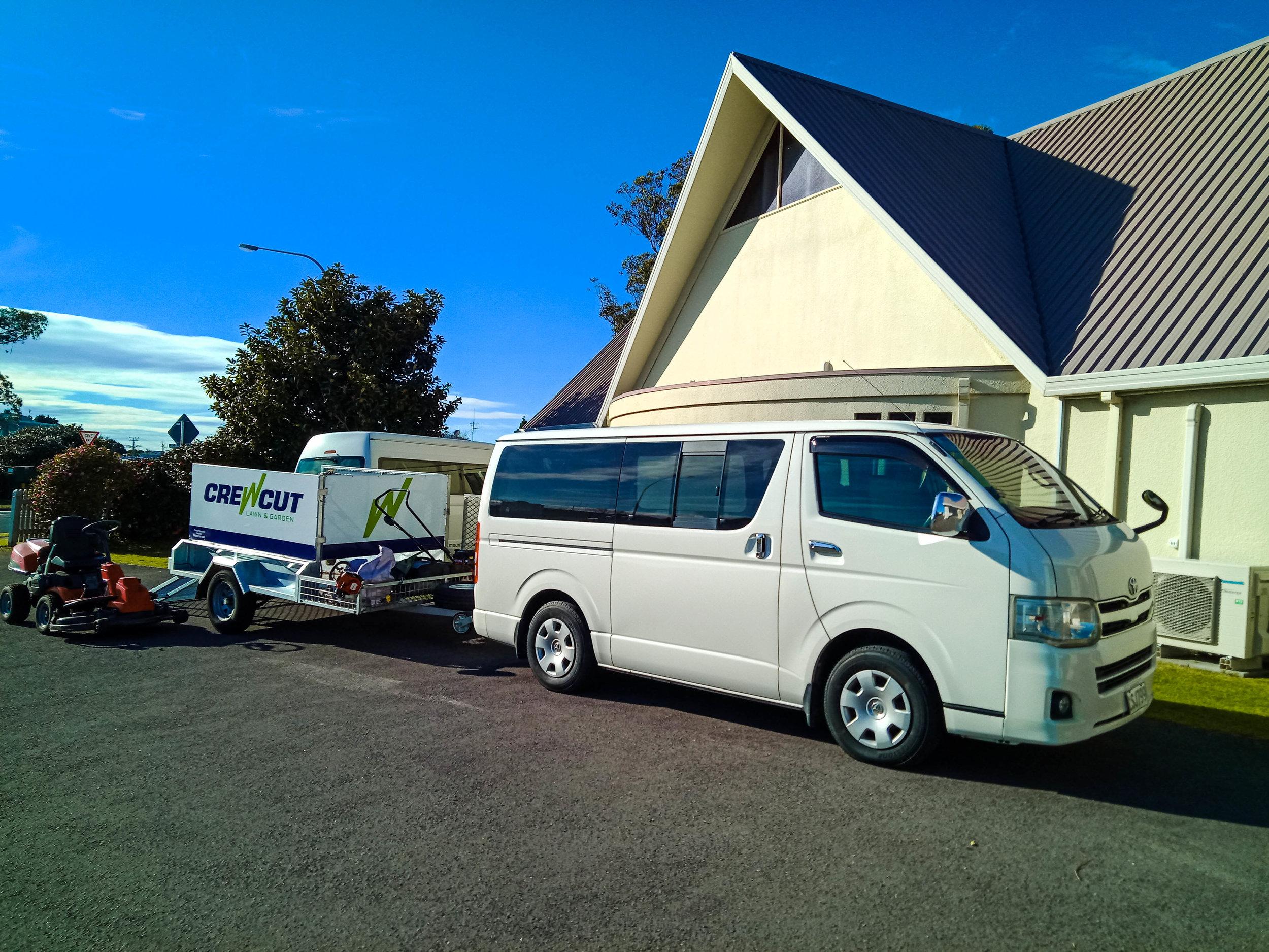 Crewcut van and trailer