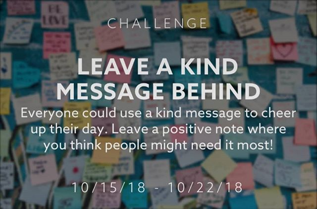 The latest Weekly beHuman Challenge is out!  Take the #PayItForward challenge & leave a kind message behind for a stranger. Share your message on #beHuman to inspire other to do the same.  Download beHuman in the App Store today.  Pledge, Post & beHuman!