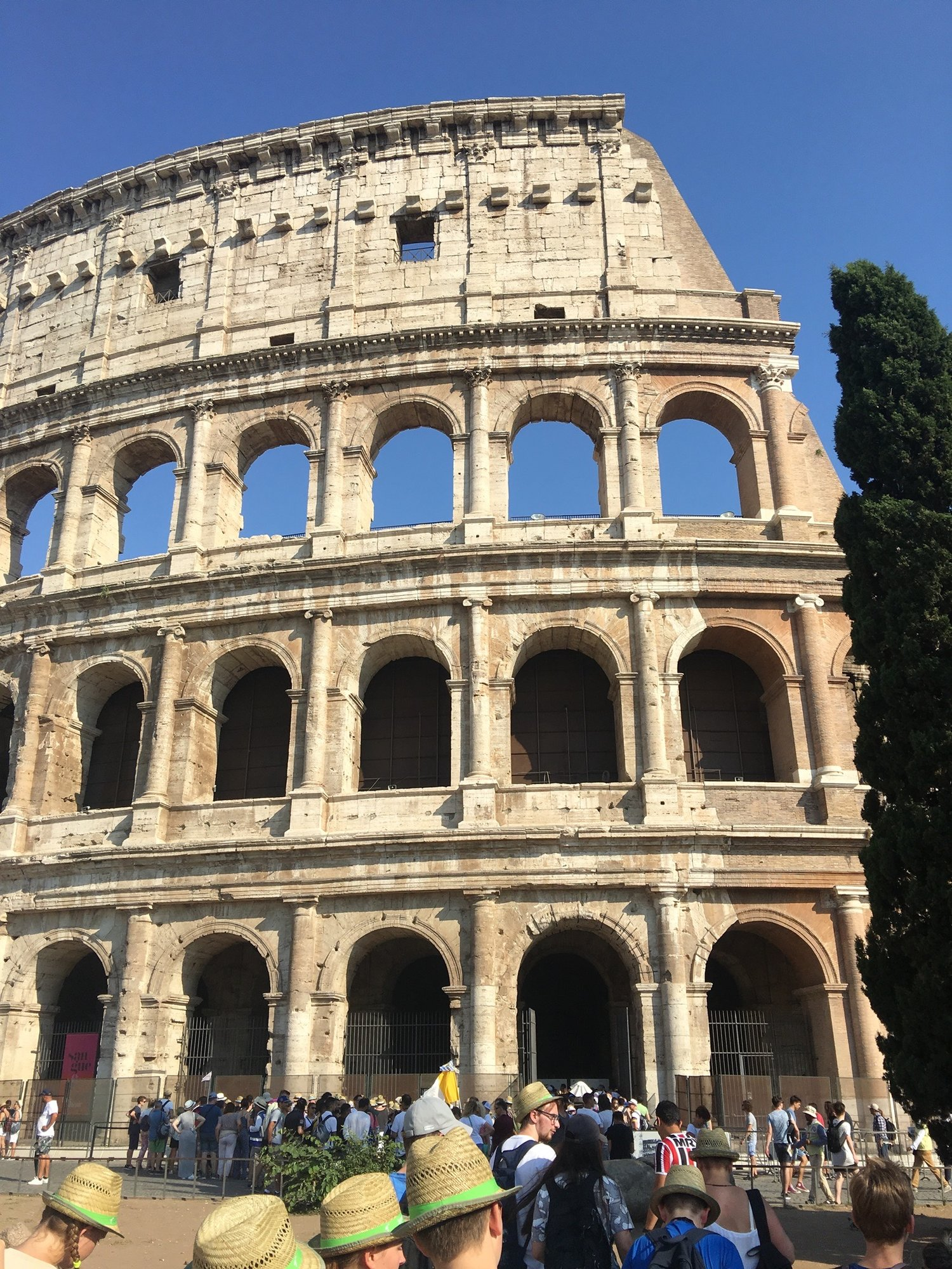 The Coliseum dates back to the year 72 AD - 80 AD, is the largest amphitheater ever built and was selected as one of the 7 Wonders of the World in 2007.