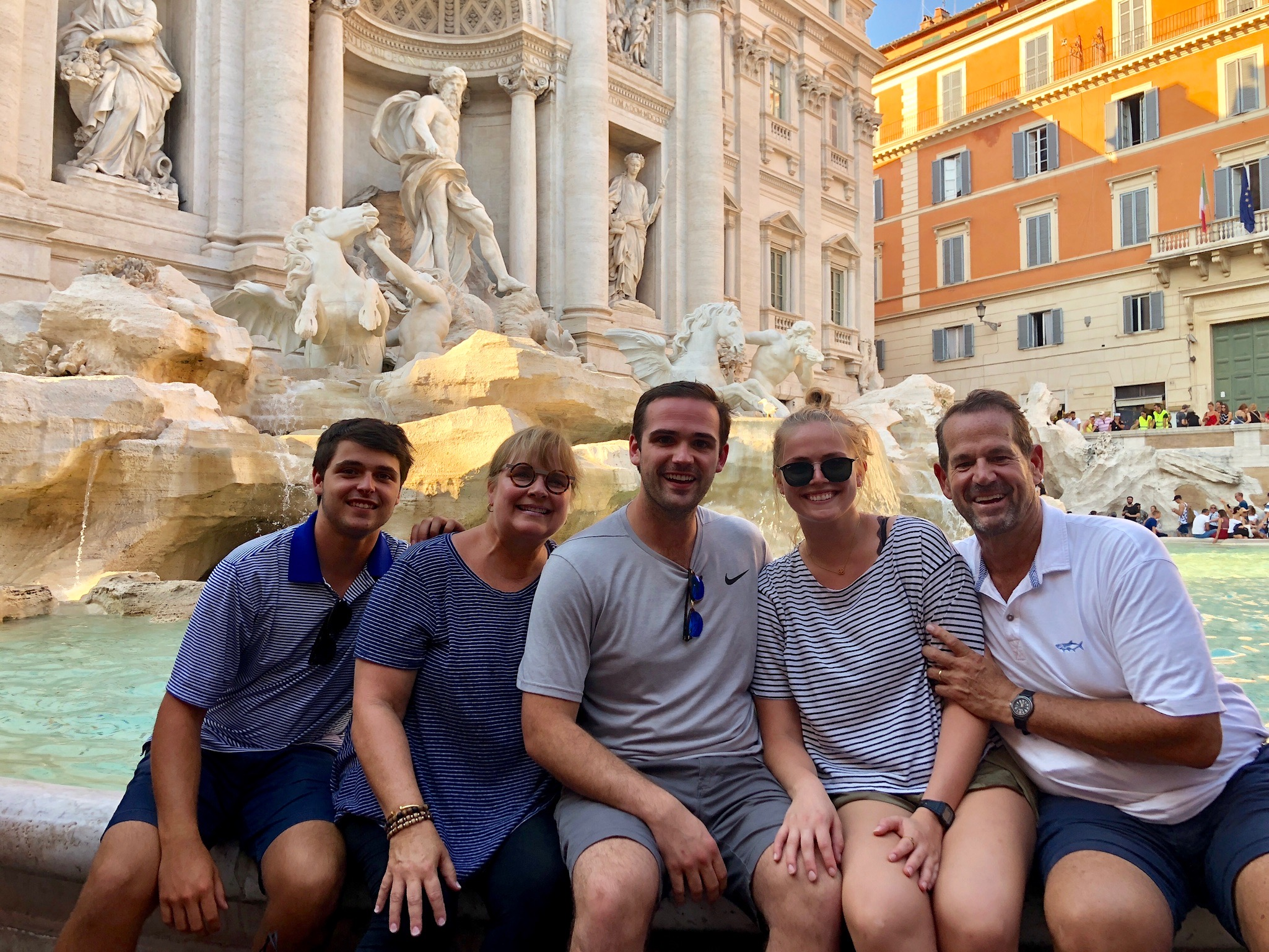 We ended up our stay in this beautiful city at the Trevi Fountain in the Trevi district and just chilled there for a while. So refreshing to feel the mist of the water while looking at this incredible sculpture. Throw three coins in and make a wish!