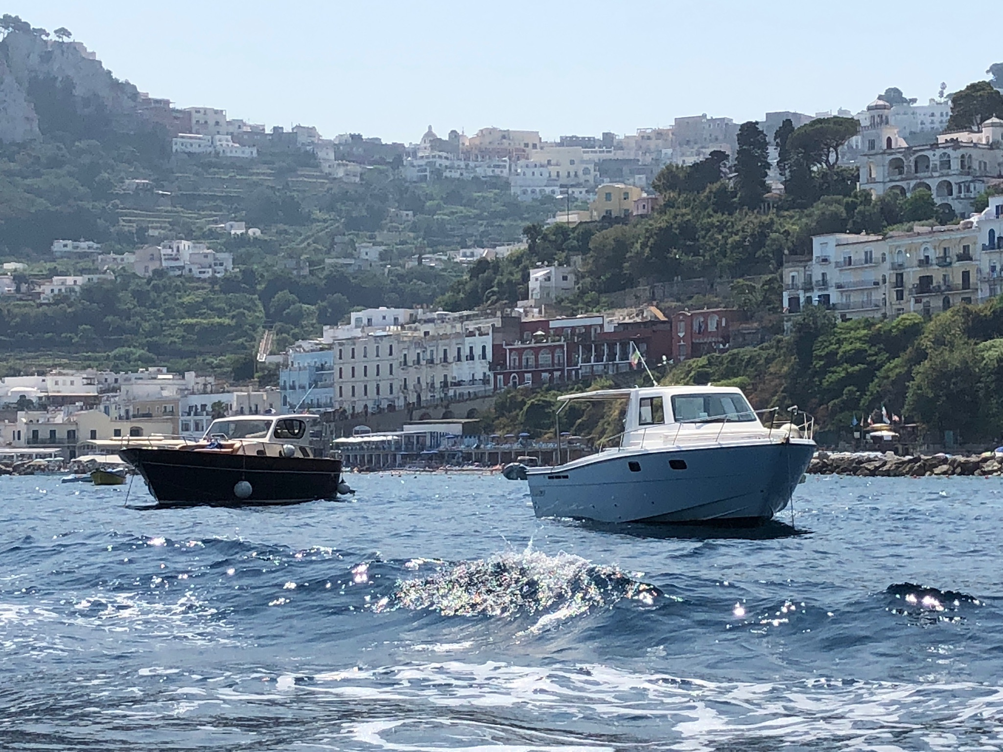 The way you get to Capri - by boat!