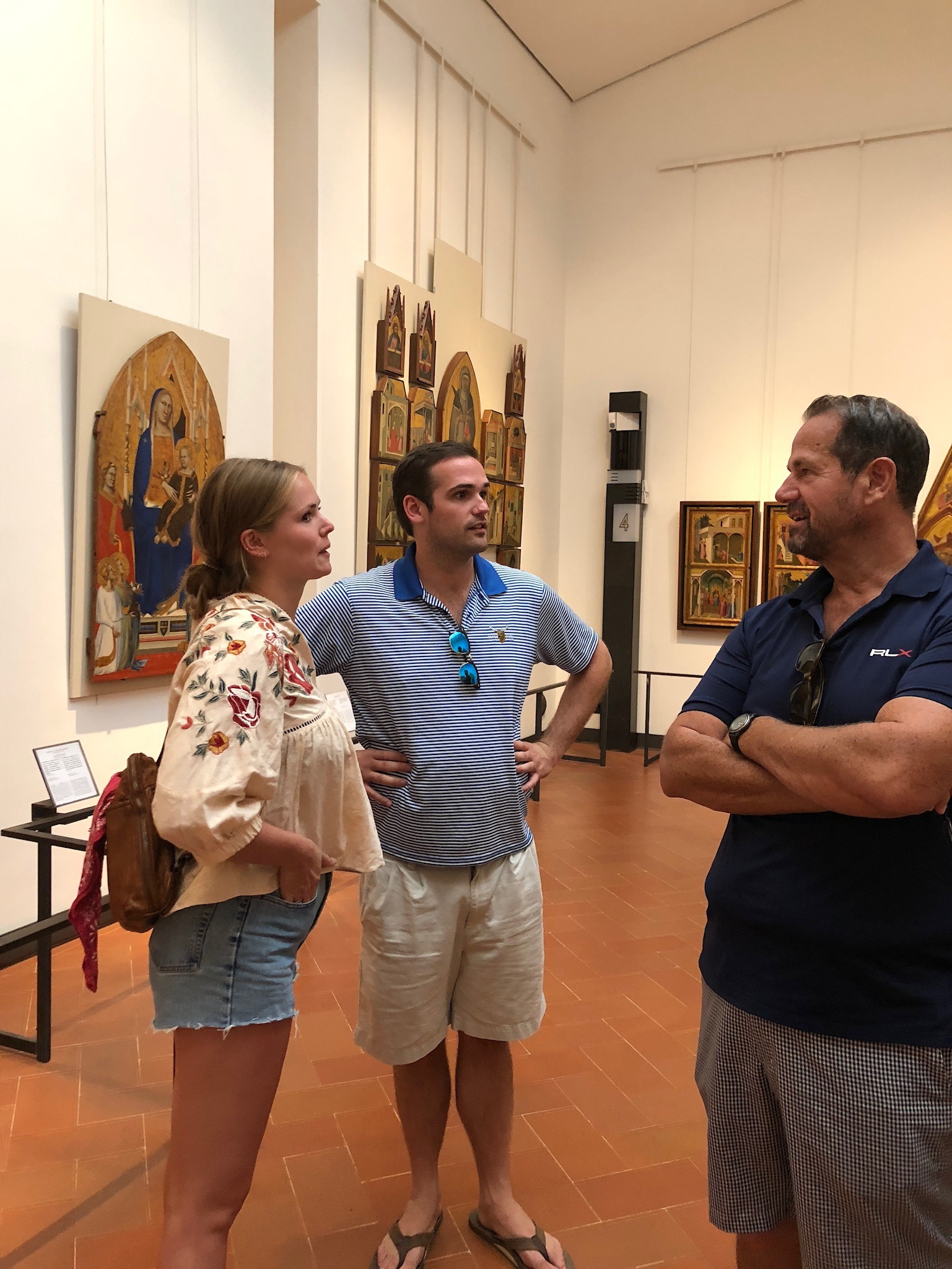 Chloie shared her knowledge of many of the works of art in Florence as she watched her Art History course come alive.