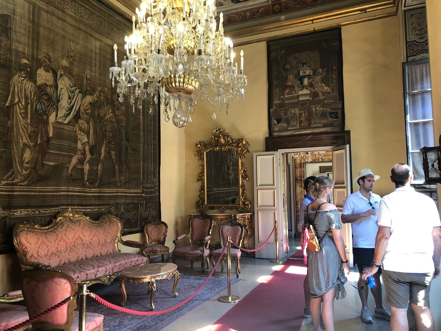 Inside the Medici Family home, later sold to the Riccardis, who renovated it extensively.