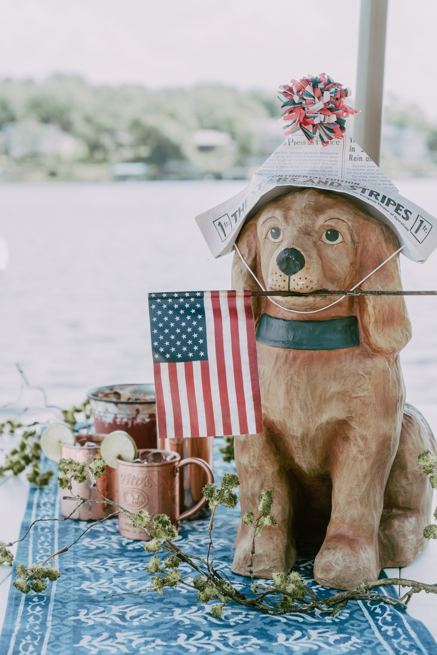 This Americana puppy is ushering in the 4th of July with a couple of Moscow Mules, my favorite summer refresher drink.