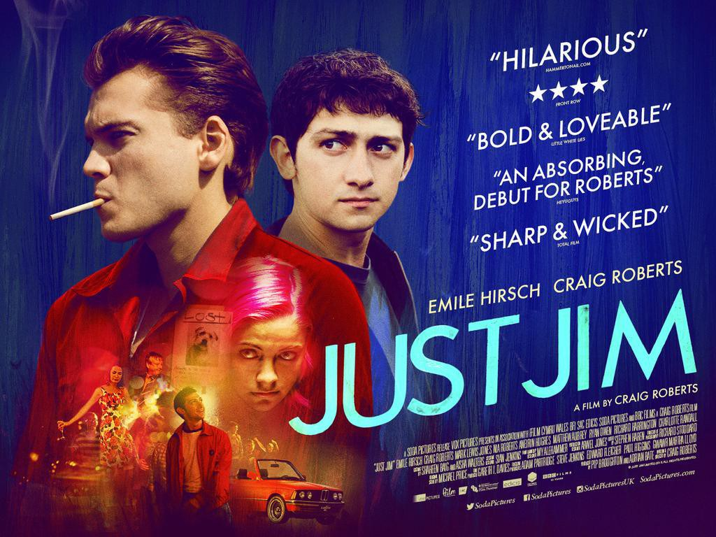 Just Jim to screen on BBC2 Sunday 19th August. - 'Just Jim', Craig Roberts' directorial debut and Vox's first production, will receive its UK TV premiere at 23.15 on Sunday 19th August on BBC2. The film will be available to watch on BBC iPlayer afterwards.