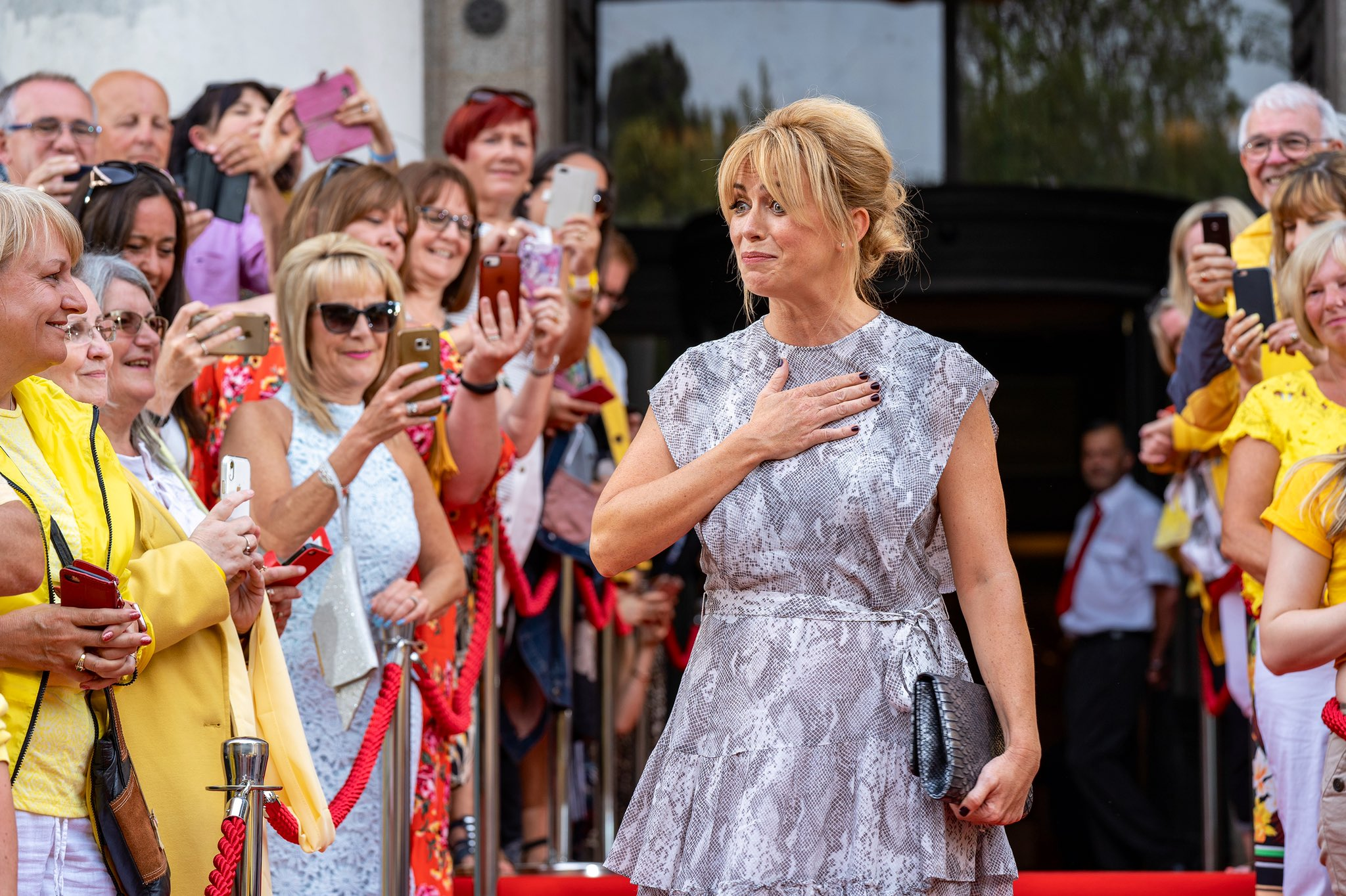 Keeping Faith 2 Premiere Held in Cardiff - Eve Myles and a host of yellow-adorned fans have turned out for the premiere for Keeping Faith (Series 2)!