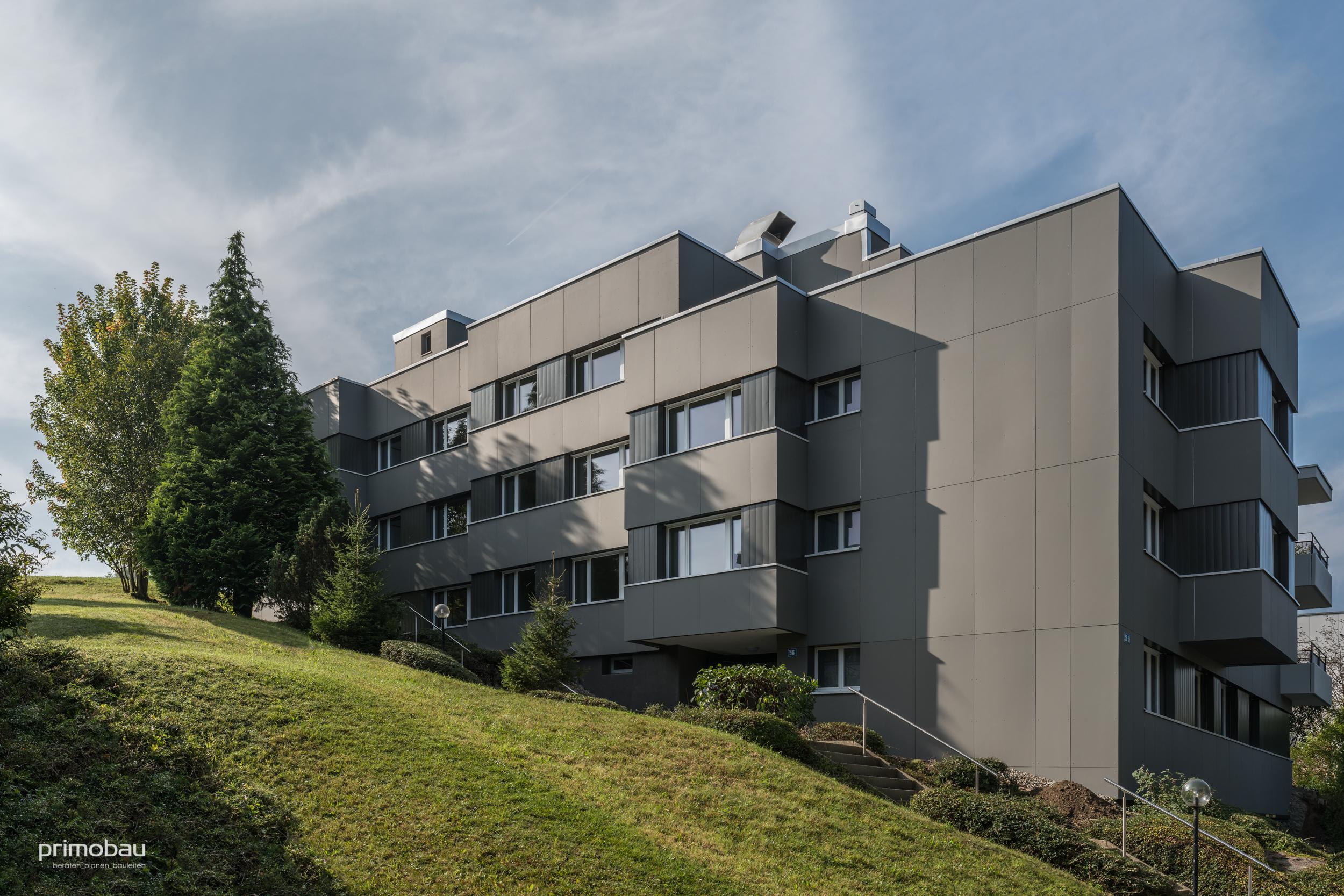 Im Glockenacker, Zürich Witikon  Innen- und Aussenrenovation, 12 Wohnungen