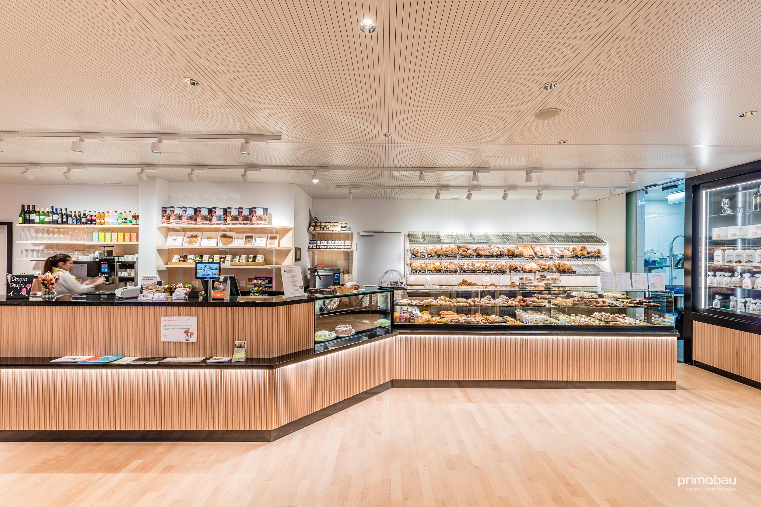 Quartierbeck Mattenhof, Zürich Schwamendingen  Ausbau, Bäckerei und Café
