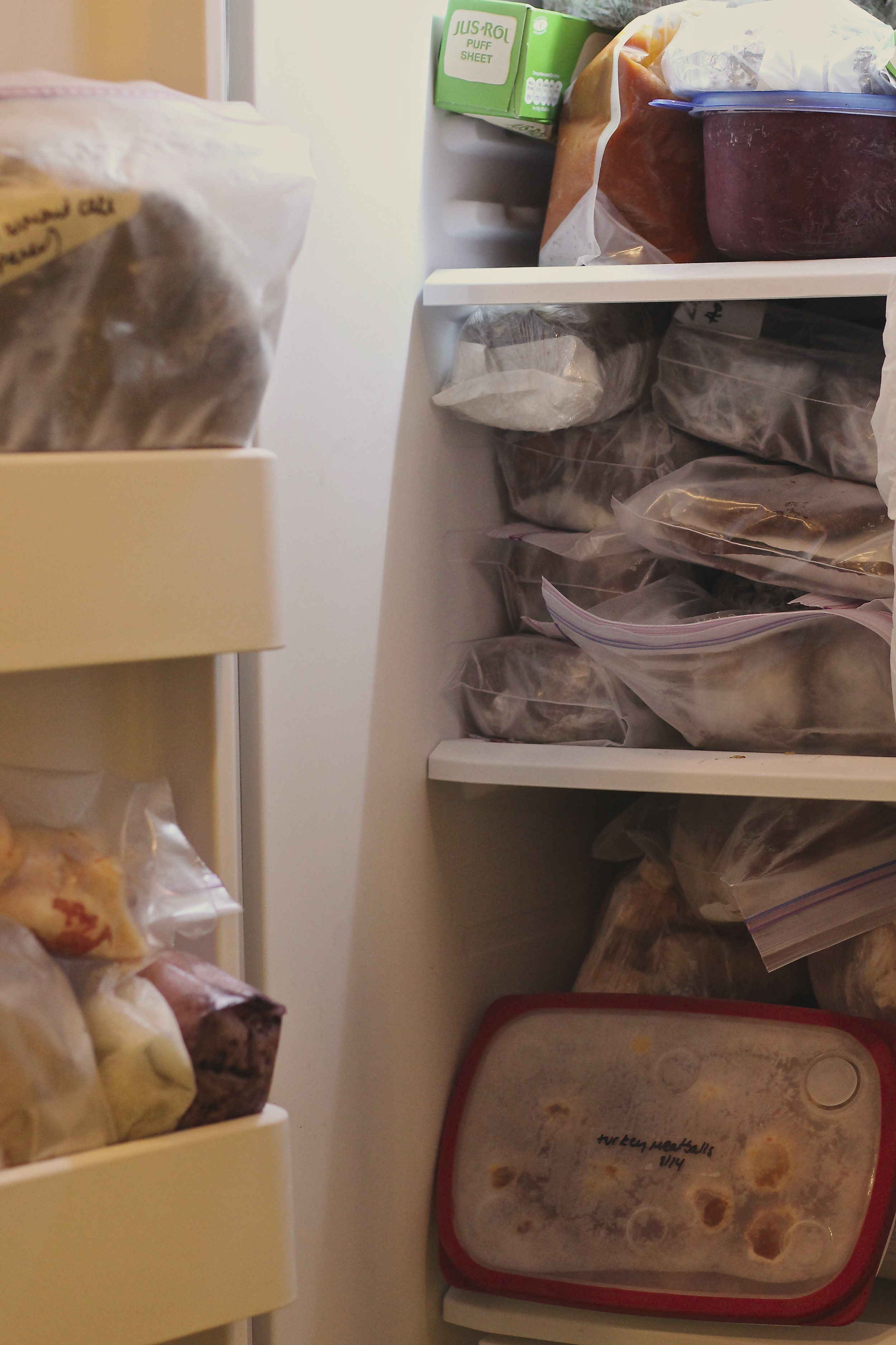 seriously packed freezer