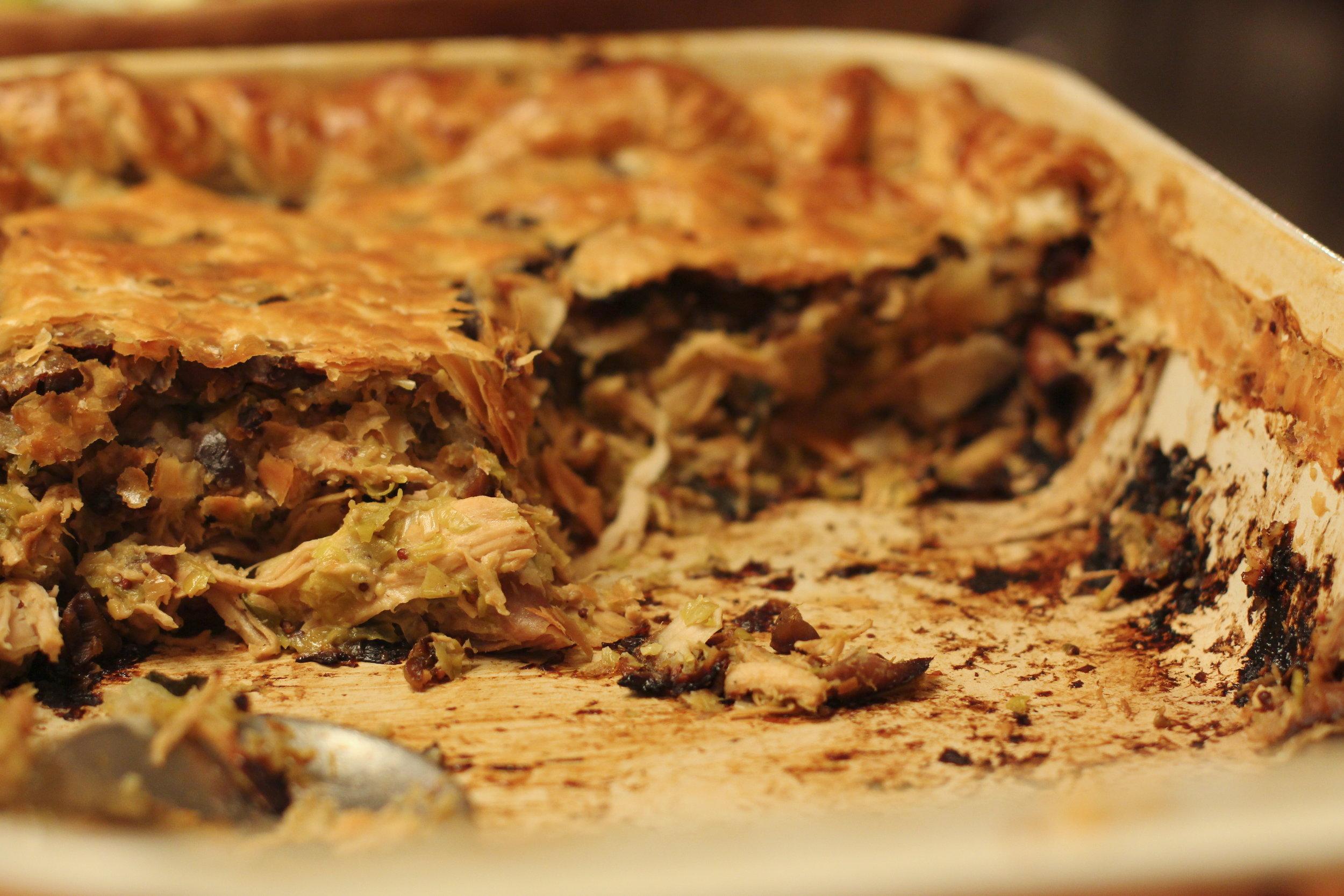 Turkey, Leek and Grainy Mustard Pie