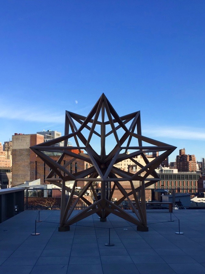Blue skies and Frank Stella at the Whitney