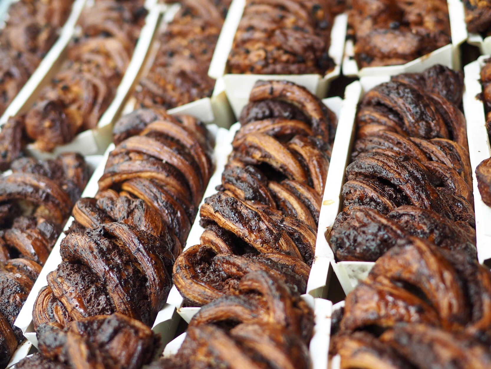 Babka as far as the eye can see at Breads Bakery