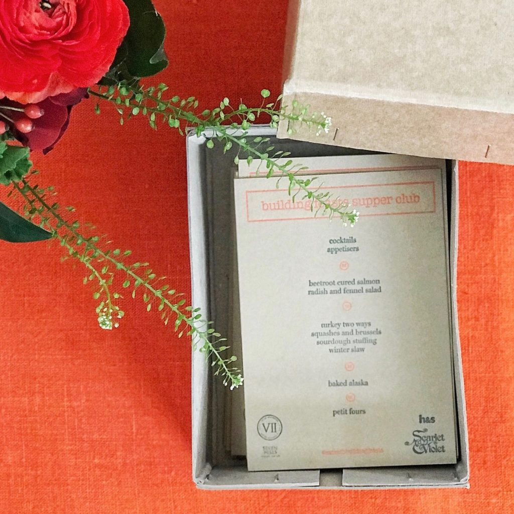 Menus and a little letterpress love from  Harrginton & Squires . Photo: Emma Parlons  @lifeofyablon