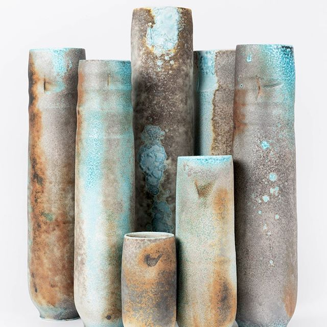 Final preparations in the studio today for @ceramicartlondon This exciting international contemporary ceramics fair opens on Thursday next week at Central St Martins. Hope to see you there Stand 73 #jackdoherty #sodafired #porcelain #contemporaryceramics #ceramicartlondon #vessels #craftanddesign #internationalceramicsfair