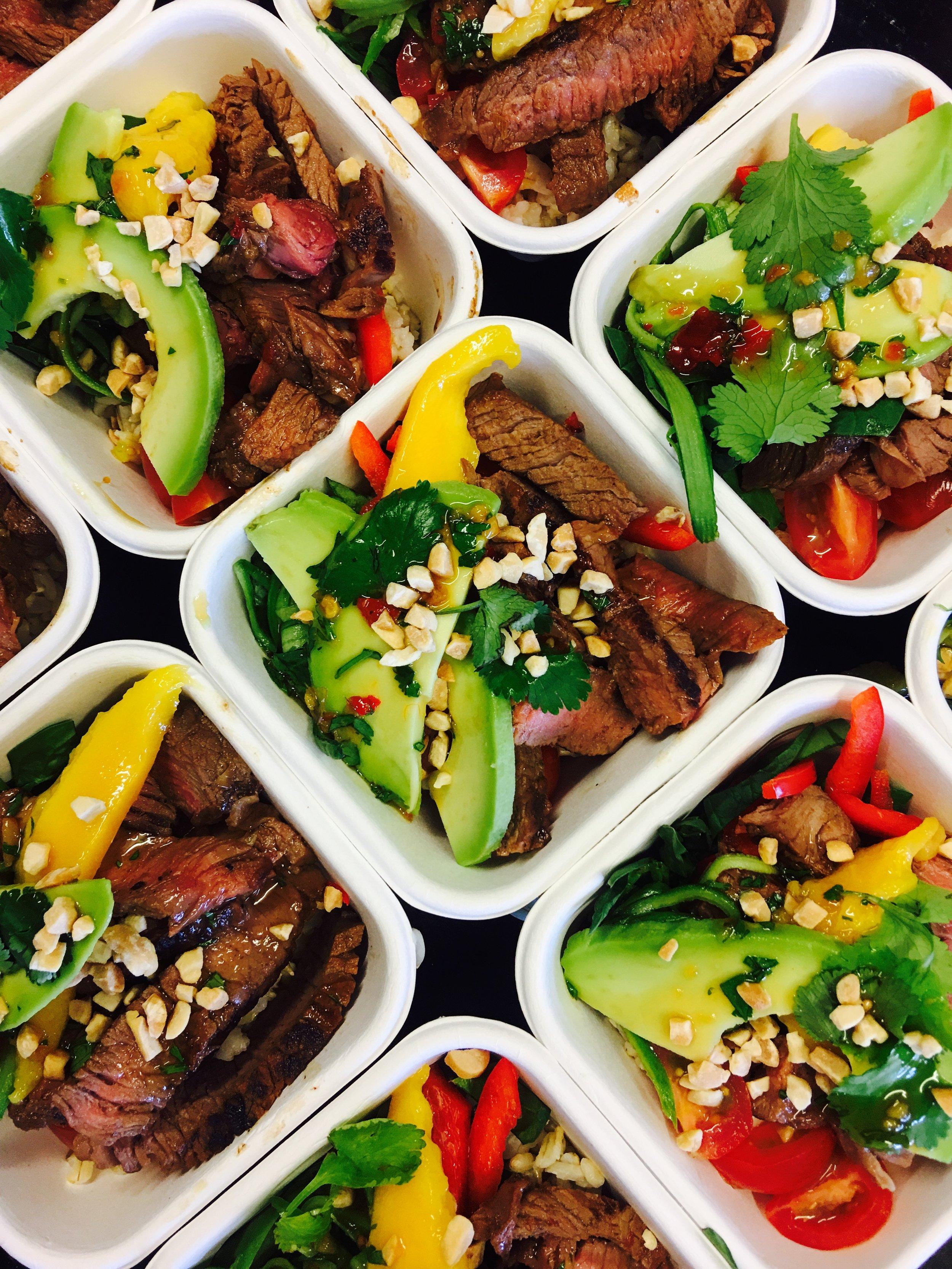 Beef and Mango Salads