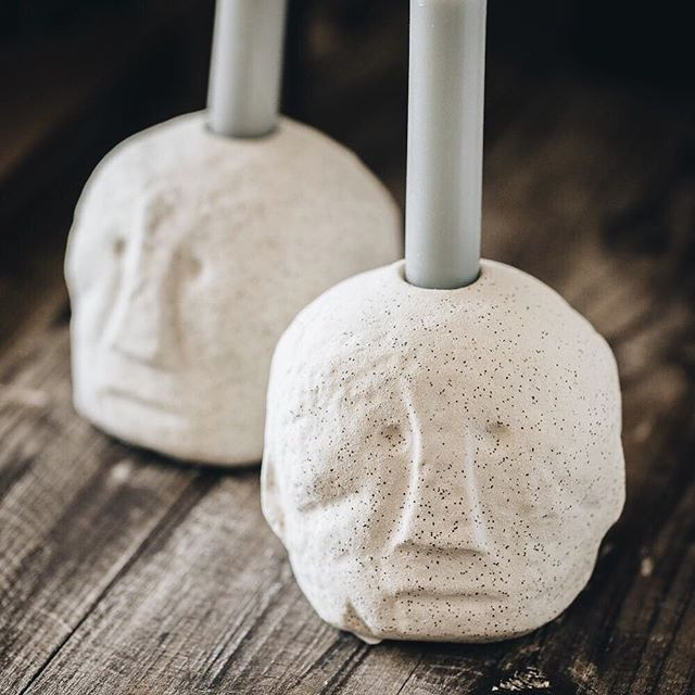 "Fun ceramic candle bases from @ohcurio, who have aptly named them 'Phil & Grant' 😂 ⠀⠀ I really wanted to get these as misc decorative shelf objects but apparently I ""can't have so many candle holders"" and ""the Mexican flamenco dancer ones will be enough"" 🙄 ⠀⠀ Ps if the latter sounds intriguing, see @w.a.greenlondon!"