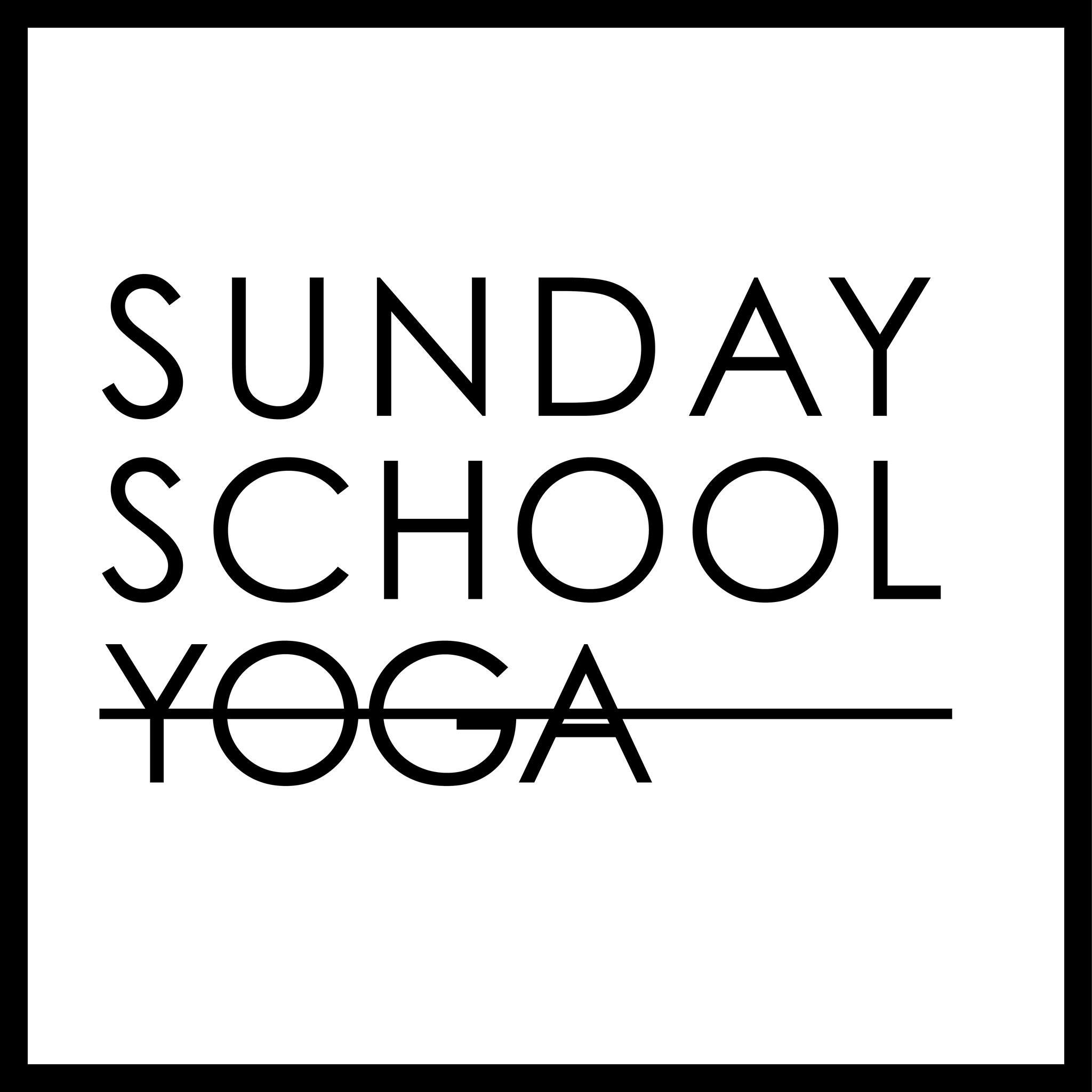 Sunday School Yoga