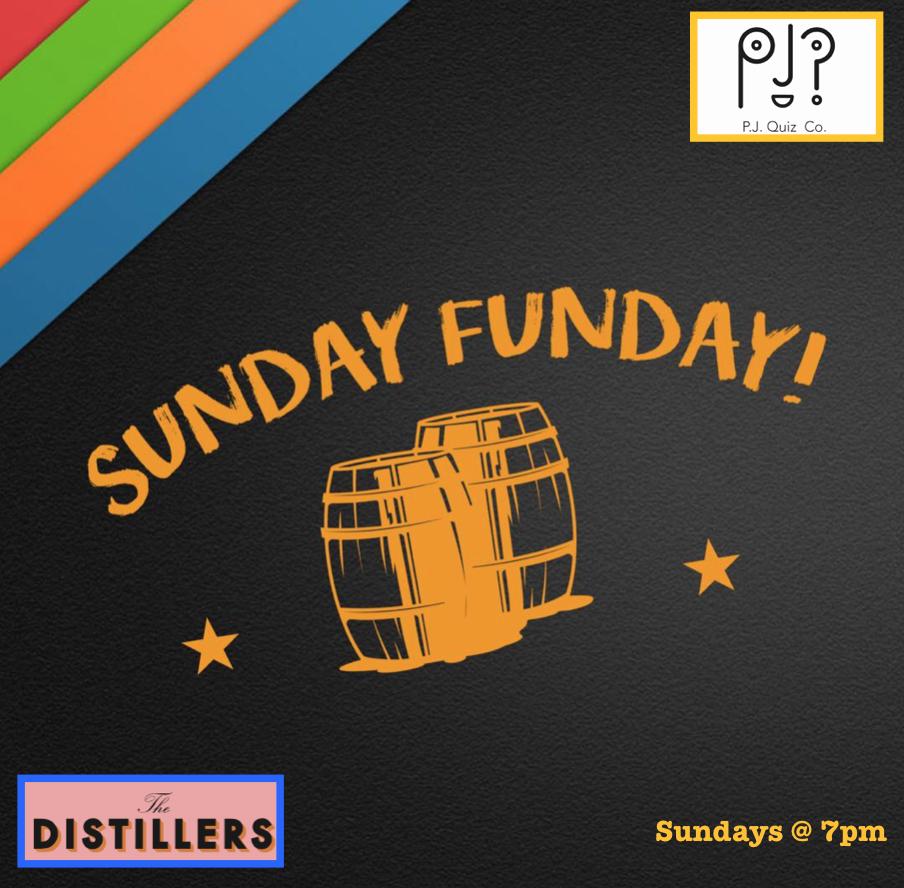 Sunday Nights: - The DistillersHammersmith,West London,7pm - 9pm