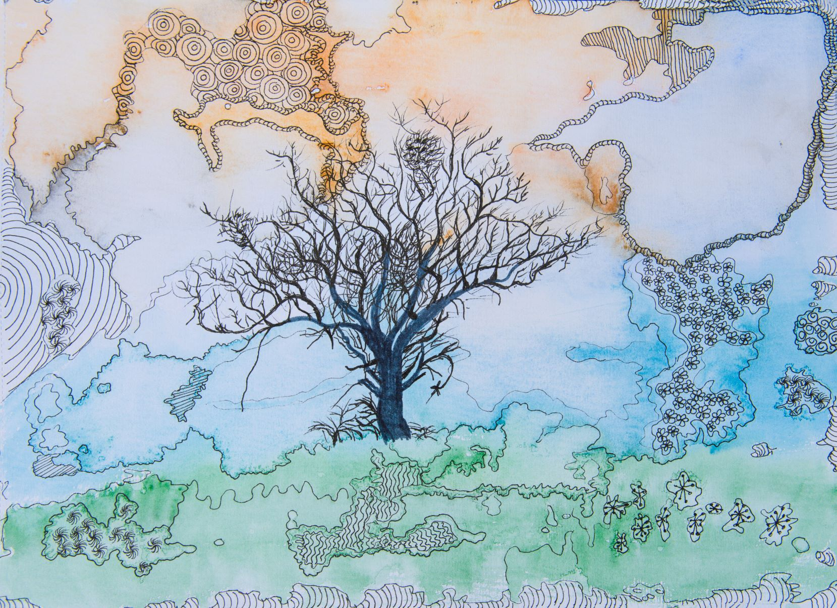 Sally Saint Art -  tree on a hill.jpg m.jpg
