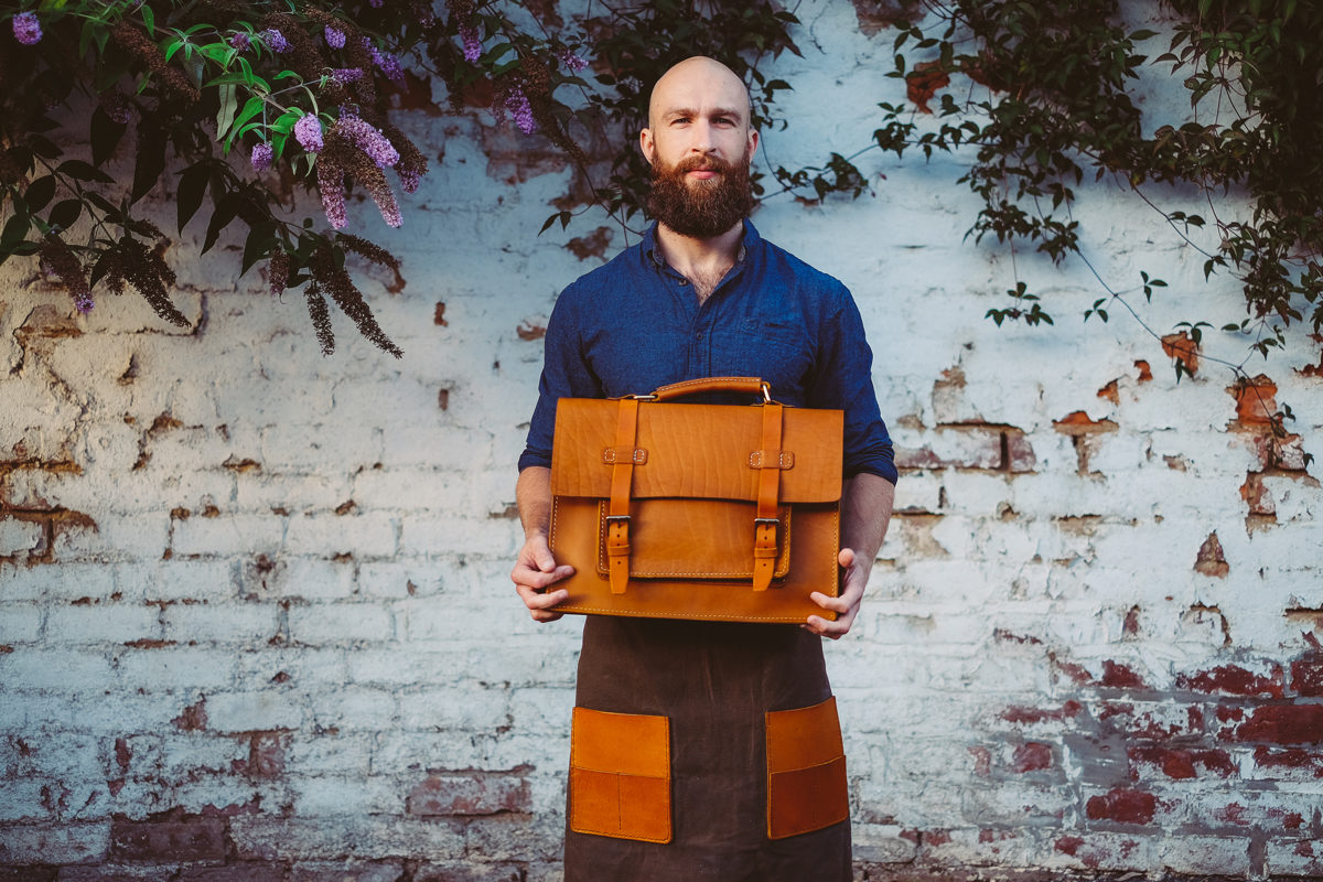 BennyBee master leathersmith and head of family business