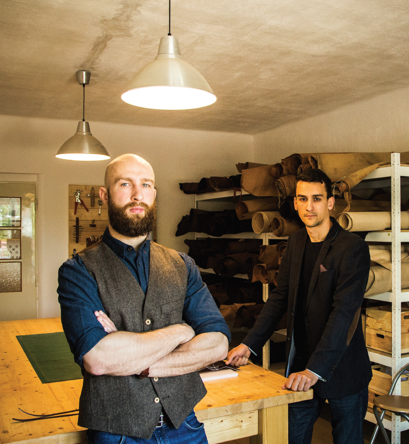 Daniel (left) and Benjamin (right) Caltik in their farmhouse workshop.  Photo: Miro Nota