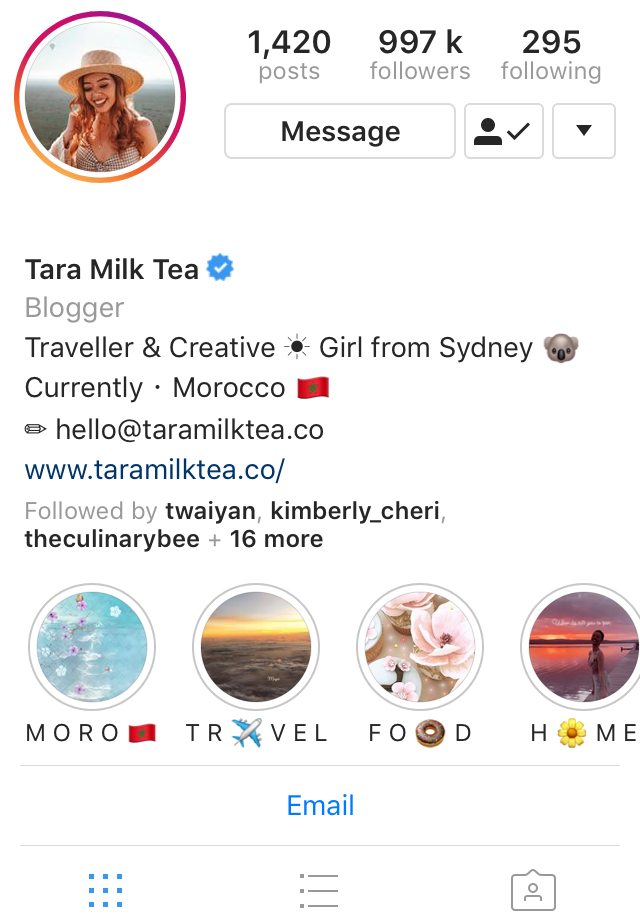 Travel Influencer TaraMilkTea