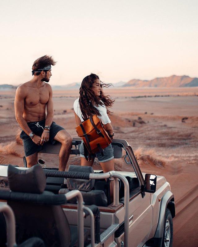 Sam Kolder and Chelsea Kauai in Namibia with BennyBee
